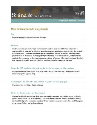 Document : Capture et analyse vidéo en éducation physique