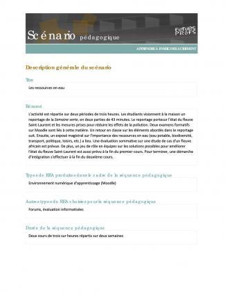 Document : Ressources en eau (Les)