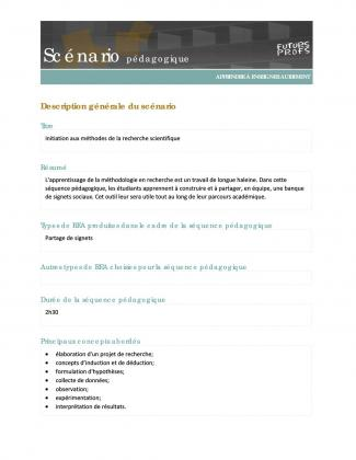 Document : Initiation aux méthodes de la recherche scientifique