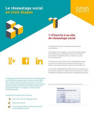 Document : Réseautage social en trois étapes (Le)