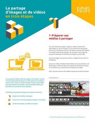Document : Partage d'images et de vidéos en trois étapes (Le)