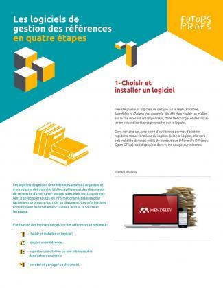 Document : Logiciels de gestion des références en quatre étapes (Les)