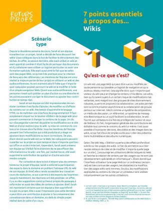 Document : Wikis - 7 points essentiels