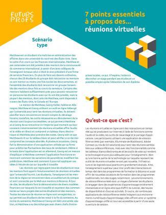 Document : Réunions virtuelles - 7 points essentiels
