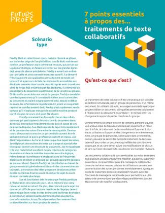 Document : Traitements de texte collaboratifs - 7 points essentiels