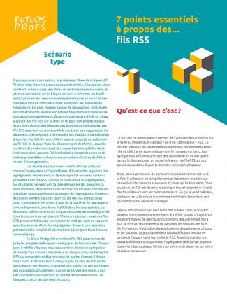 Document : Fils RSS - 7 points essentiels