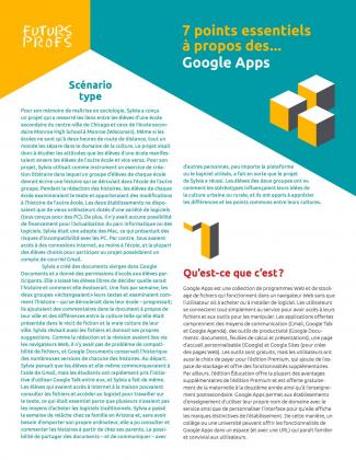 Document : Google Apps - 7 points essentiels