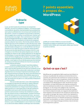 Document : WordPress - 7 points essentiels