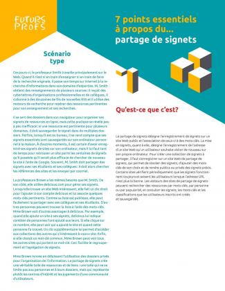 Document : Partage de signets - 7 points essentiels