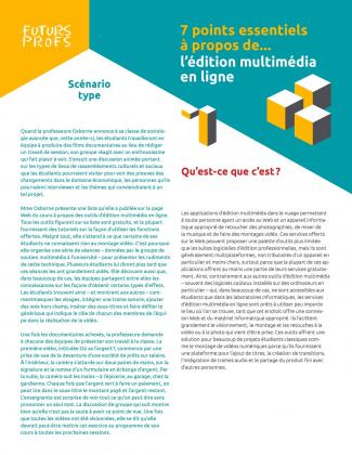 Document : Édition multimédia en ligne - 7 points essentiels