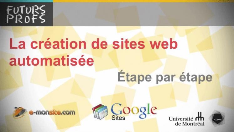 Vidéo : Création de sites Web automatisés, étape par étape (La)